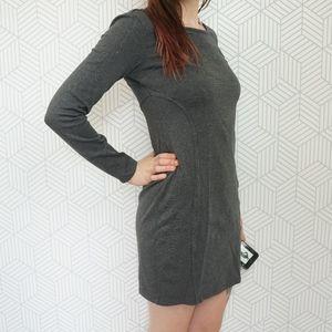 Athleta Illusion Long Sleeve Dress Charcoal XS